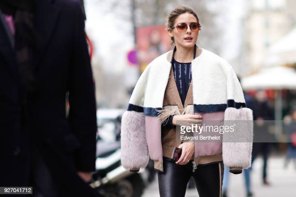 Olivia Palermo is seen outside Altuzarra during Paris Fashion Week Womenswear Fall/Winter 2018/2019 on March 3 2018 in Paris France