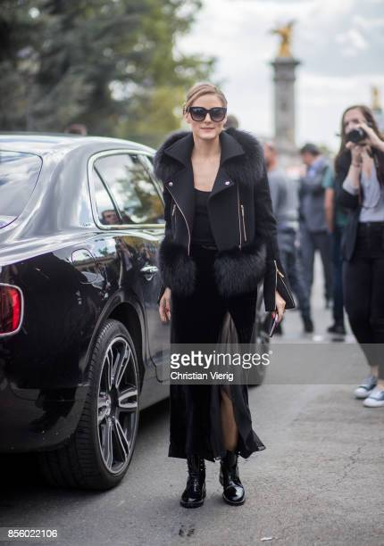 Olivia Palermo is seen outside Elie Saab during Paris Fashion Week Spring/Summer 2018 on September 30 2017 in Paris France