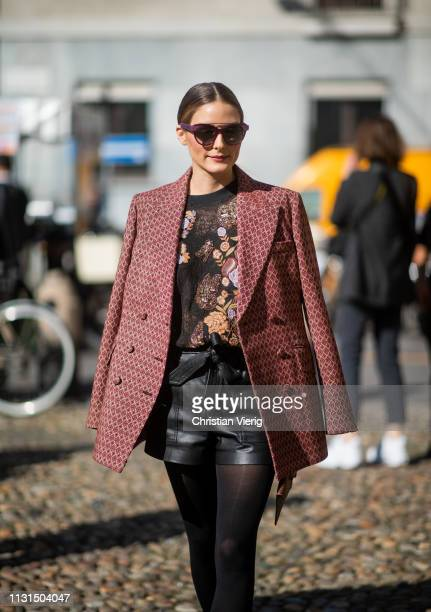 Olivia Palermo is seen outside Etro on Day 3 Milan Fashion Week Autumn/Winter 2019/20 on February 22, 2019 in Milan, Italy.