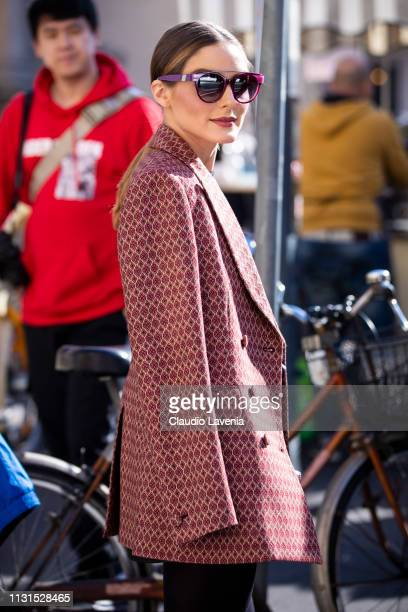 Olivia Palermo is seen outside Etro on Day 3 Milan Fashion Week Autumn/Winter 2019/20 on February 22 2019 in Milan Italy