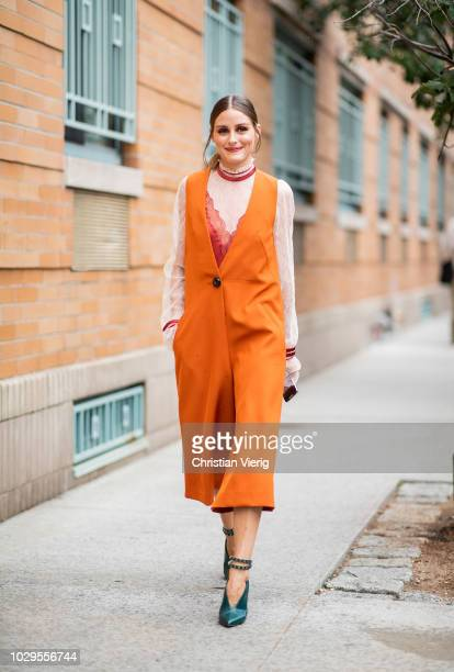 Olivia Palermo is seen outside Jonathan Simkhai during New York Fashion Week Spring/Summer 2019 on September 8 2018 in New York City