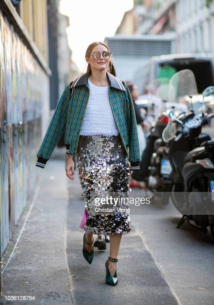 Olivia Palermo is seen outside No 21 during Milan Fashion Week Spring/Summer 2019 on September 19 2018 in Milan Italy