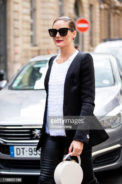 Olivia Palermo is seen outside Ralph Russo during Paris Fashion Week Haute Couture Fall/Winter 2019/2020 on July 01 2019 in Paris France