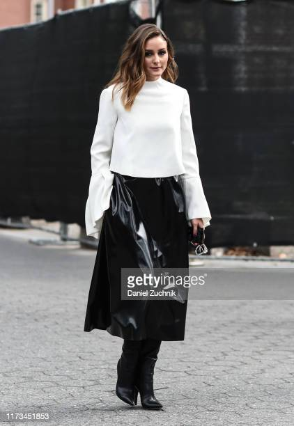 Olivia Palermo is seen outside the Carolina Herrera show during New York Fashion Week S/S20 on September 09 2019 in New York City