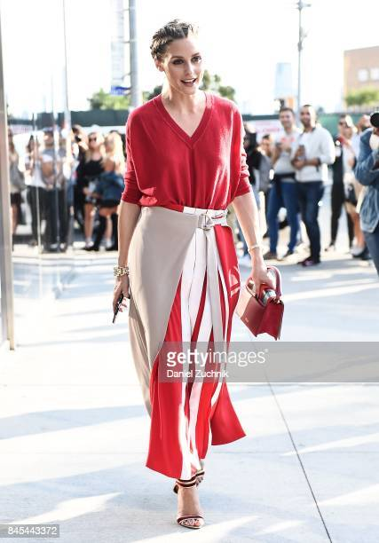 Olivia Palermo is seen outside the DVF show during New York Fashion Week Women's S/S 2018 on September 10 2017 in New York City