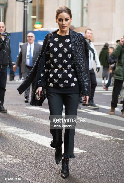 Olivia Palermo is seen outside the Michael Kors show during New York Fashion Week: Fall/Winter 2019 on February 13, 2019 in New York City.