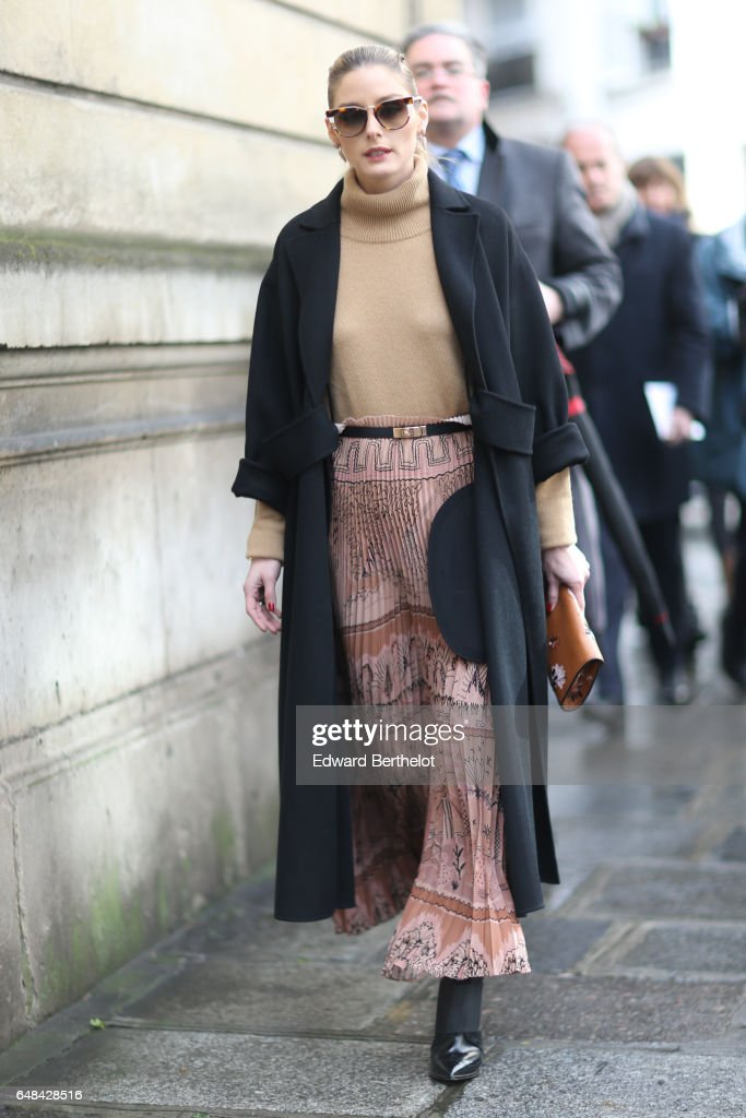 Olivia Palermo is seen, outside the Valentino show, during Paris Fashion Week Womenswear Fall/Winter 2017/2018, on March 5, 2017 in Paris, France.