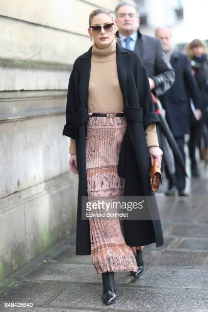 Olivia Palermo is seen outside the Valentino show during Paris Fashion Week Womenswear Fall/Winter 2017/2018 on March 5 2017 in Paris France