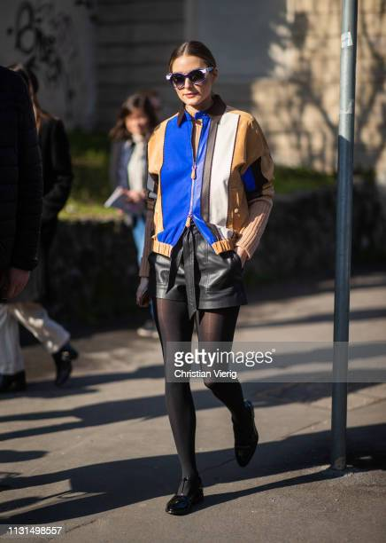Olivia Palermo is seen outside Tods on Day 3 Milan Fashion Week Autumn/Winter 2019/20 on February 22 2019 in Milan Italy