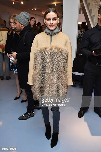 Olivia Palermo is seen wearing Diane Von Furstenberg Fall 2016 during New York Fashion Week on February 14 2016 in New York City