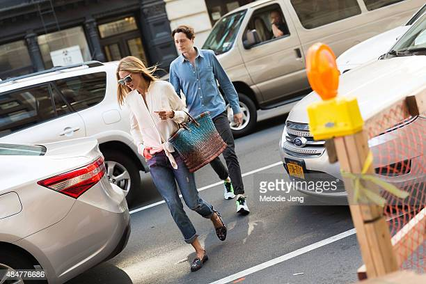 Olivia Palermo is spotted in Tribeca on August 7 2015 in New York City