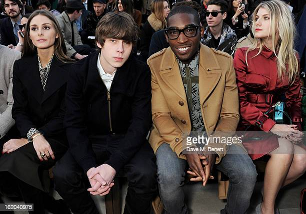 Olivia Palermo Jake Bugg Tinie Tempah and Melanie Laurent sit in the front row for the Burberry Prorsum Autumn Winter 2013 Womenswear Show at...