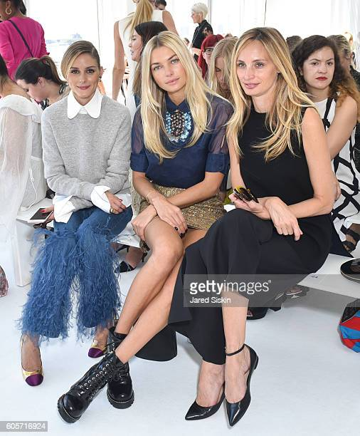 Olivia Palermo Jessica Hart and Lauren Santo Domingo attend the Delpozo show during September 2016 New York Fashion Weekat Pier 59 on September 14...