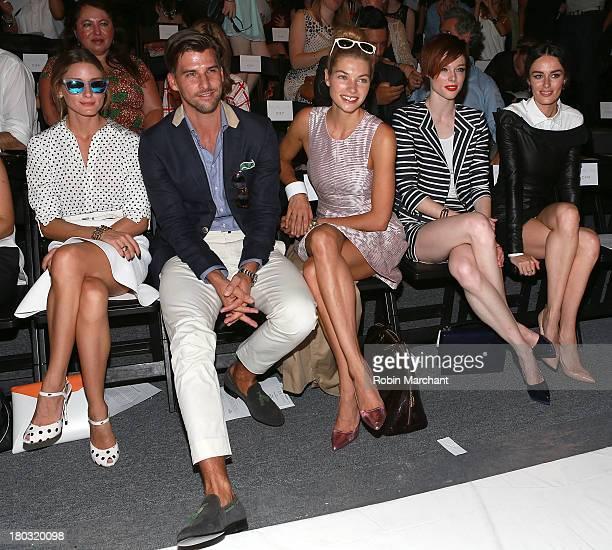 Olivia Palermo Johannes Huebl Jessica Hart Coco Rocha and Nicole Trunfio attend the Rachel Zoe show during Spring 2014 MercedesBenz Fashion Week at...
