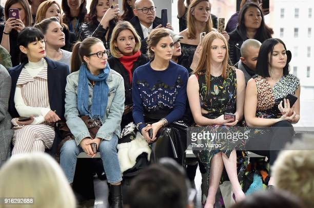 Olivia Palermo Larsen Thompson and Leigh Lezark attend the Jason Wu front row during New York Fashion Week The Shows at Gallery I at Spring Studios...