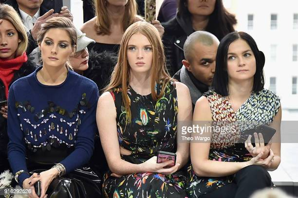 Olivia Palermo Larsen Thompson and Leigh Lezark attends the Jason Wu front row during New York Fashion Week The Shows at Gallery I at Spring Studios...