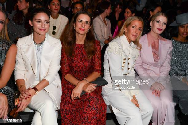 Olivia Palermo Livia Firth Ellie Goulding and Lady Kitty Spencer attend the Alberta Ferretti fashion show during the Milan Fashion Week Spring/Summer...