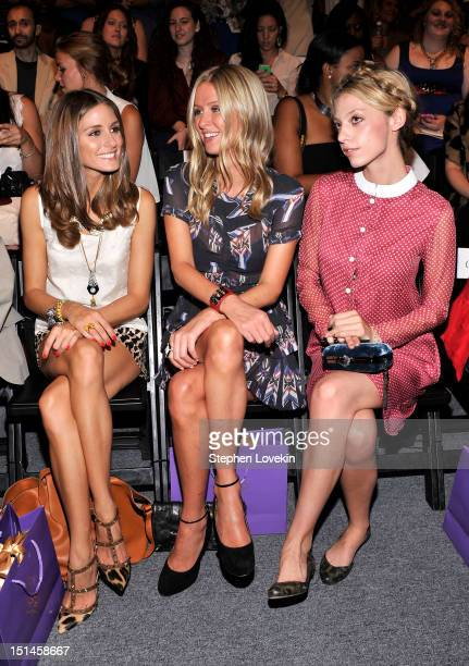 Olivia Palermo Nicky Hilton and Cory Kennedy attend the Noon By Noor Spring 2013 fashion show during MercedesBenz Fashion at The Studio at Lincoln...