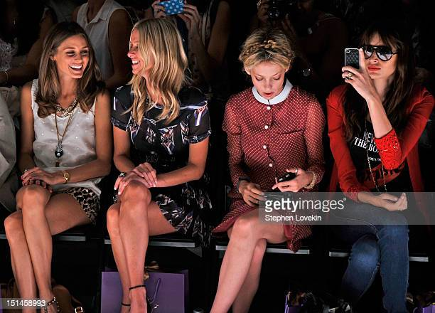Olivia Palermo Nicky Hilton Cory Kennedy and Kenza Fourati attend the Noon By Noor Spring 2013 fashion show during MercedesBenz Fashion at The Studio...