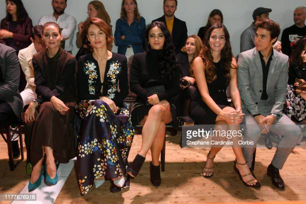 Olivia Palermo Olga Kurylenko Hafsia Herzi Anouchka Delon and Julien Dereims attend the Elie Saab Womenswear Spring/Summer 2020 show as part of Paris...