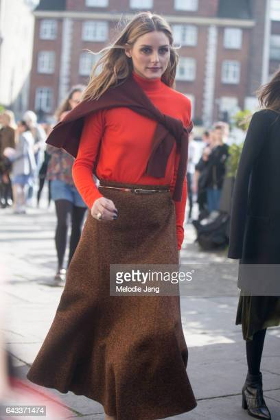 Olivia Palermo on day 4 of the London Fashion Week February 2017 collections on February 20 2017 in London England