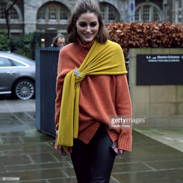 Olivia Palermo on the street during the London Fashion Week