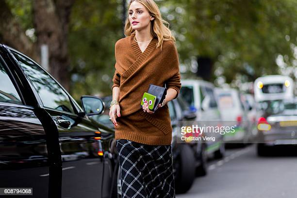 Olivia Palermo outside Christopher Kane during London Fashion Week Spring/Summer collections 2017 on September 19 2016 in London United Kingdom