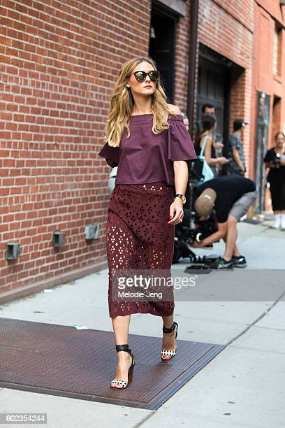 Olivia Palermo outside the Tibi show at Industria Studios on September 10 2016 in New York City