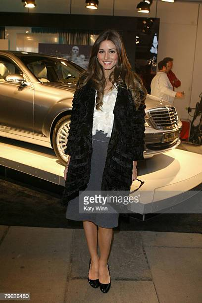 Olivia Palermo poes at the fashion tents in Bryant Park during MercedesBenz Fashion Week Fall 2008 on February 7 2008 in New York City