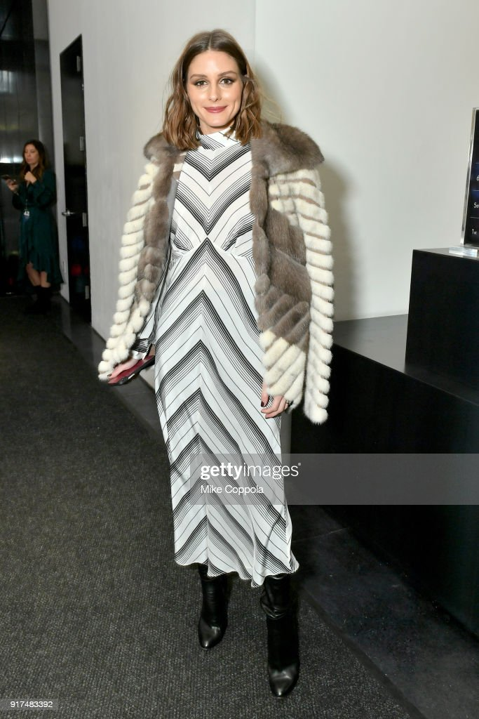 Olivia Palermo poses for a photo in the lobby during