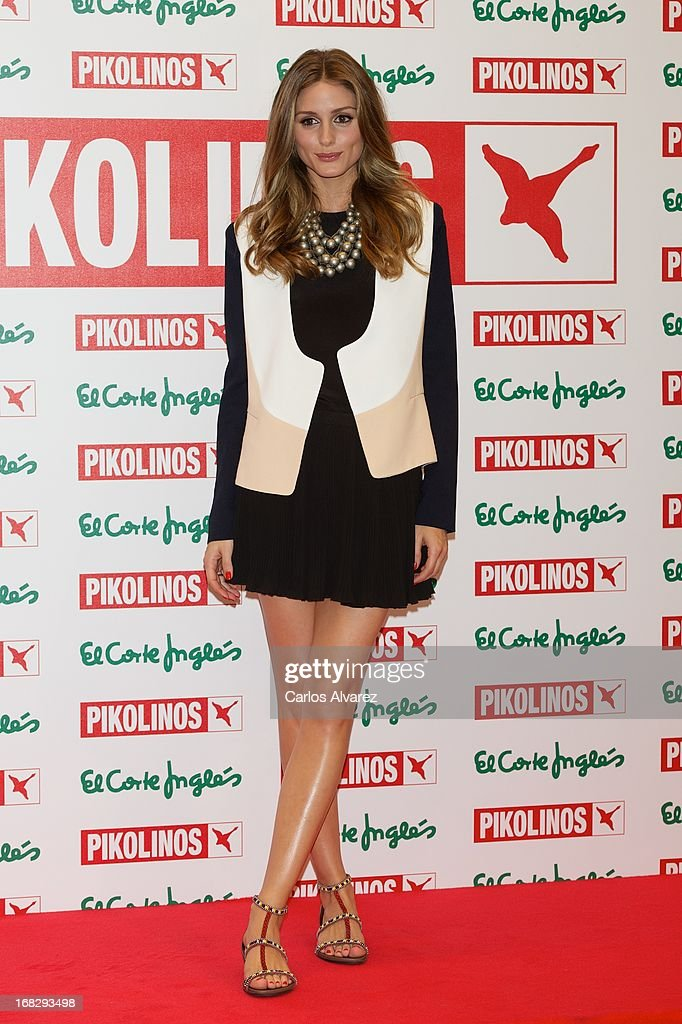 Olivia Palermo presents the new 'Pikolinos' Maasai collection at the Corte Ingles Castellana store on May 8, 2013 in Madrid, Spain.
