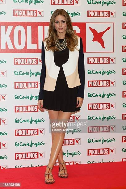 Olivia Palermo presents the new 'Pikolinos' Maasai collection at the Corte Ingles Castellana store on May 8 2013 in Madrid Spain