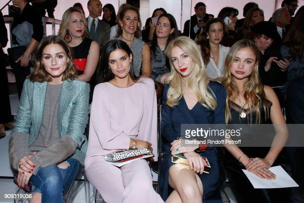 Olivia Palermo Sara Sampaio Sabine getty and Lady Amelia Windsor attend the Giorgio Armani Prive Haute Couture Spring Summer 2018 show as part of...