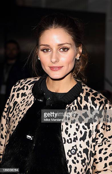 Olivia Palermo seen in the front row at the Matthew Williamson Autumn/Winter 2012 show at London Fashion Week at The Royal Opera House on February 19...