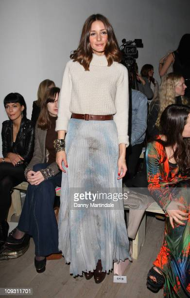 Olivia Palermo seen on the front row of the Matthew Williamson show show at London Fashion Week Autumn/Winter 2011 on February 20 2011 in London...