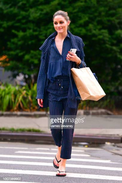 Olivia Palermo seen on the streets of Manhattan on July 19 2018 in New York City
