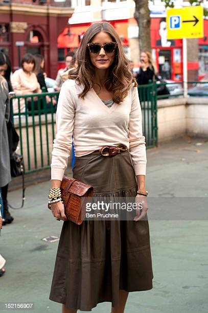 Olivia Palermo sighted arriving at the Antonio Berardi catwalk show during London Fashion Week S/S 2013 on September 17 2012 in London England
