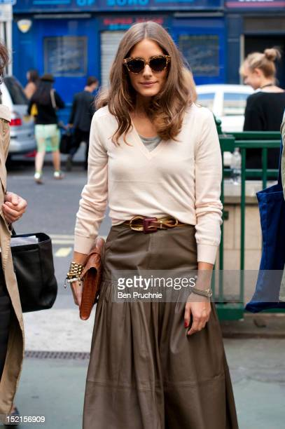Olivia Palermo sighted arriving at the Antonio Berardi catwalk show during London Fashion Week S/S 2013 on September 17, 2012 in London, England.