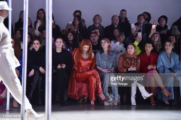 Olivia Palermo Thorne Bella Thorne and Dani Thorne attend the Sally LaPointe front row during New York Fashion Week The Shows at Gallery I at Spring...