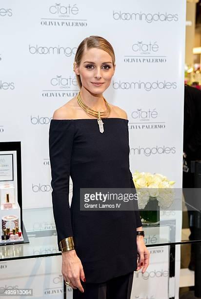 Olivia Palermo visits Bloomingdale's on November 5 2015 in New York City