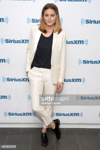 Olivia Palermo visits SiriusXM Studios on July 31, 2017 in New York City.