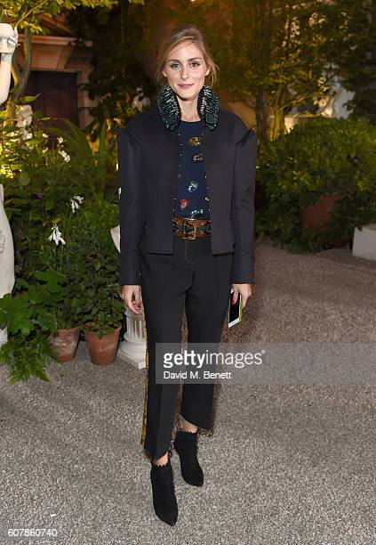 Olivia Palermo wearing Burberry at the Burberry September 2016 show during London Fashion Week SS17 at Makers House on September 19 2016 in London...
