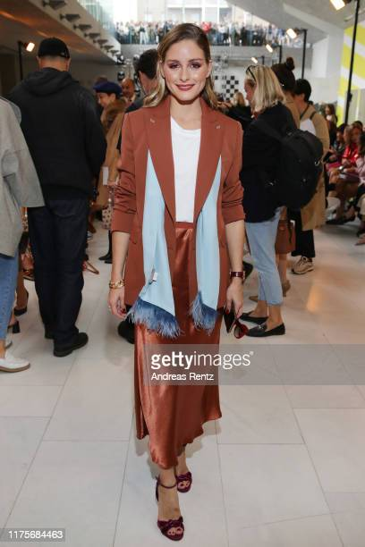 Olivia Palermo, wearing Max Mara, attends the Max Mara show during Milan Fashion Week Spring/Summer 2020 on September 19, 2019 in Milan, Italy.