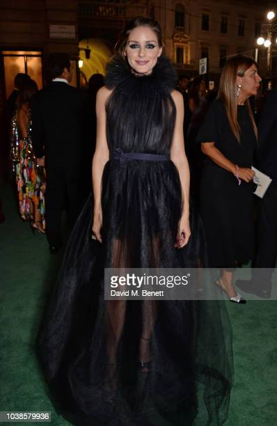 Olivia Palermo, wearing Tods X Isko, attends The Green Carpet Fashion Awards Italia 2018 at Teatro Alla Scala on September 23, 2018 in Milan, Italy.