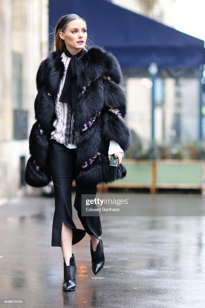 Street Style : Day Seven - Paris Fashion Week Womenswear Fall/Winter 2017/2018 : Nieuwsfoto's
