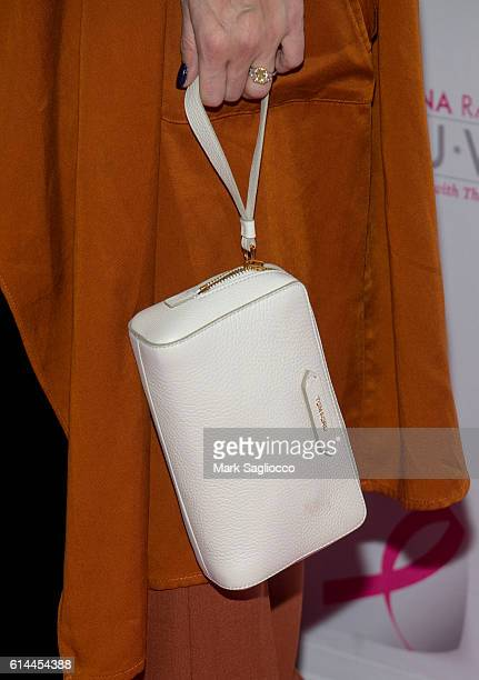 Olivia Palermo with a Tom Ford purse attends The Pink Agenda 2016 Gala at Three Sixty on October 13 2016 in New York City