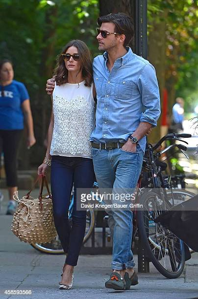 Olivia Palermo with her boyfriend Johannes Huebl are seen on May 19 2012 in New York City