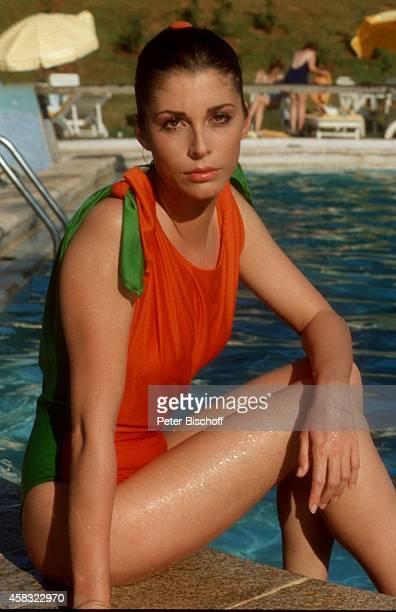 Olivia Pascal am Rande der Dreharbeiten zur ZDFReihe 'Traumschiff' Folge 15 'Brasilien' am in Rio de Janeiro Brasilien
