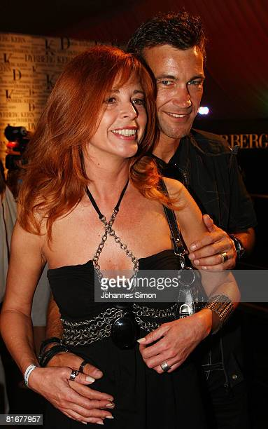 Olivia Pascal and Peter Kanitz attend the 'Movie Meets Media' party at discoteque P1 on June 23, 2008 in Munich, Germany.