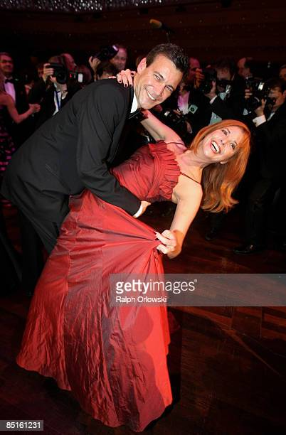 Olivia Pascal and Peter Kanitz dance during the German Opera Ball 2009 at the Alte Oper on February 28 2009 in Frankfurt Germany